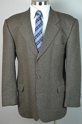 Men's Brown 100% Pure Worsted Wool 3 Button Sport Coat Blazer Jacket (42R)