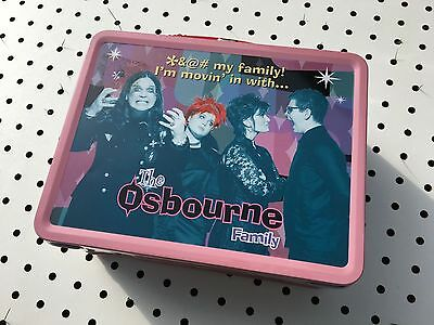 Ozzy Osbourne and family metal lunch box with thermos