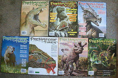 7 SEVEN back issues of Prehistoric Times dinosaur magazine BRAND NEW CONDITION!