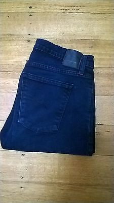 NOBODY blue MIDI true mid rise relaxed skinny stretch jeans - size 27 or 9