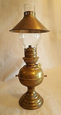 Antique Brass Ship's Oil Lamp Sherwood's England No Bracket Heavy Weighted Base