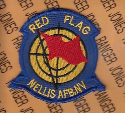 """USAF Air Force RED FLAG NELLIS AFB NEVADA 3.25"""" patch"""