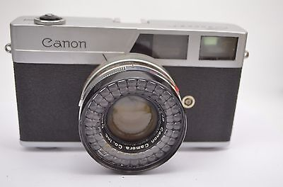 Vintage Canon Canonet 35mm Rangefinder Camera with Case Untested