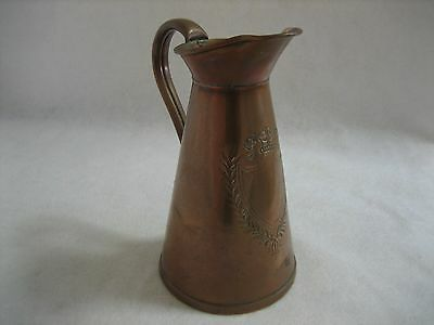 J. Sankey Art Nouveau Copper Jug