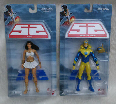 52 Booster Gold & Isis Action Figure - Series 1 - DC Direct - Set of 2 - NEW