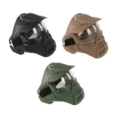 CS Game Mask Full Face Guard Crystal Goggles for Archery Paintball Airsoft
