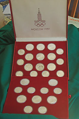 1980 RUSSIA Olympics 28 silver coin set - Great condition!!