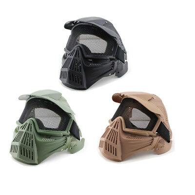 CS Game Mask Full Face Protector Metal Mesh Goggles Archery Paintball Airsoft