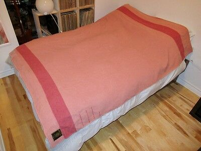 EUC Rare Vintage Early's Witney 3.5 Point Blanket Pink Made In England 62x82 HBC
