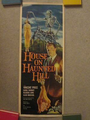 The House On Haunted Hill - Original Rolled Insert Movie Poster - Vincent Price
