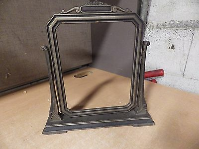 """Antique Victorian Mourning Picture Frame Tabletop For 7 X9"""" Photo Rare Death"""
