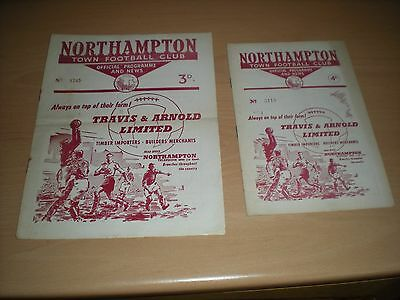 2 Northampton Town V Peterborough United Football Programmes - From Early 1960's