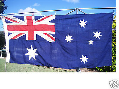 Original Authentic Vintage Quality Fully Stitched Cotton Australian Flag