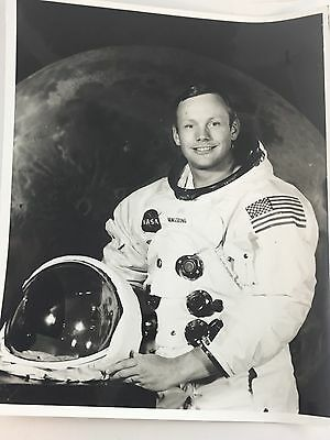 NASA Neil Armstrong Apollo 11 1969 astronaut Official press photo B&W 69-H-968