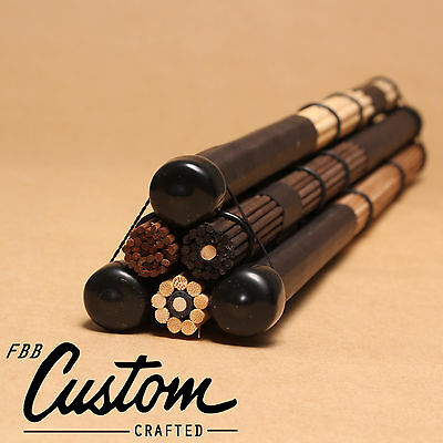 3Pairs FreePost! fbb's Handmade: 5A 5B drum brushes rods drumsticks brush sticks