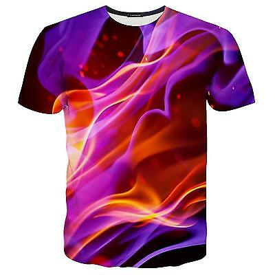 Summer Women/Men Psychedelic 3D Print Casual Short sleeve T-Shirt tops S-5XL KH5