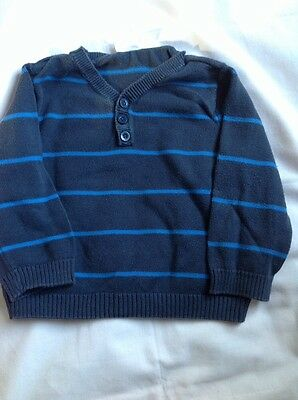 Baby Boys Jumper 6-9 months stripy top clothes