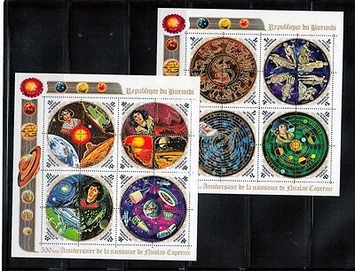 Space Solar System Zodiac Signs Copernicus Earth, Mars, MNH Minisheets CV$40.00