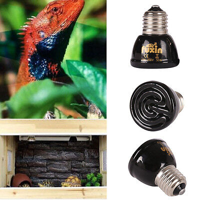 25-100W Infrared Ceramic Emitter Pet Heat Heater Lamp Reptile Light Bulb New UK