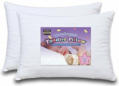Baby Pillow 2 Toddler Pillow Bundle 100% Cotton Cover by Utopia Bedding