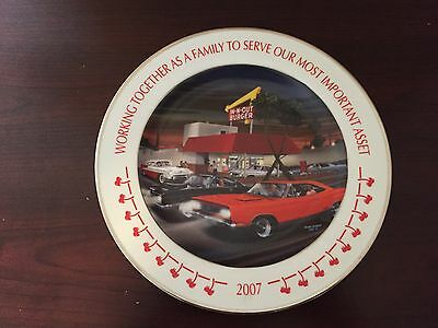 2007 In N Out Yearly Management Meeting Plate - Burger - Kick Off Awards Dinner