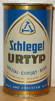 SCHLEGEL URTYP Flat Top Beer can from GERMANY (35cl)