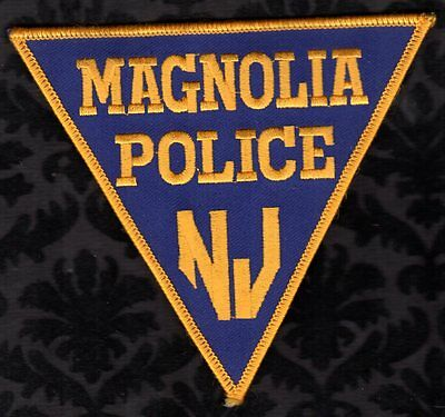 Magnolia New Jersey Police Shoulder Patch RETIRED Triangle