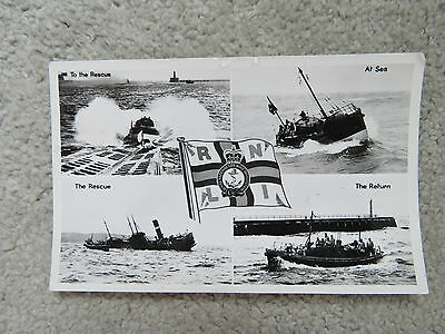 Vintage 1959 - RNLI to The Rescue Real Photo Postcard