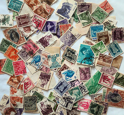 Bag of 100 India Stamps mixed lot