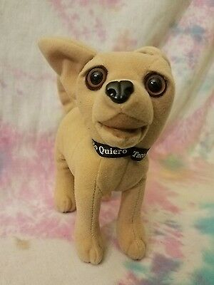 Taco Bell Chihuahua Talking Plush Toy Applause 1998 Yo Quiero Taco Bell