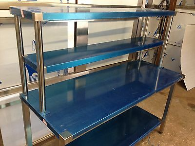Commercial Kitchen Stainles Steel Catering Work Table 5ft 1500 With 2 TierGantry