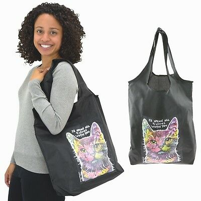 """9 Lives Dean Russo Shopping Tote Bag  """"I'd Spend All 9 Lives With You"""""""