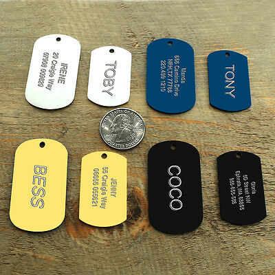 Military Dog Tags Personalized Pet Name Address Disc Customized Army ID Tag a9895d6c708