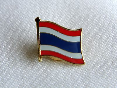 Thailand Thai Flag Country Metal Lapel Pin Badge