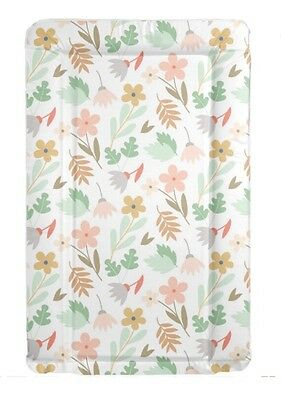 Floral Flowers Cute Baby Change Mat Padded Raised Sides Changing Mat Wipe Clean