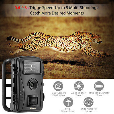 Outdoor HD 720P Low Glow Wildlife Hunting Trail Camera Infrared Scouting Camera
