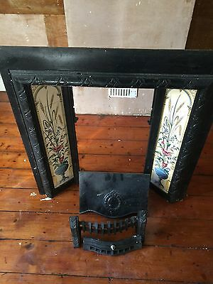 Cast Iron tiled fireplace surround and hearth