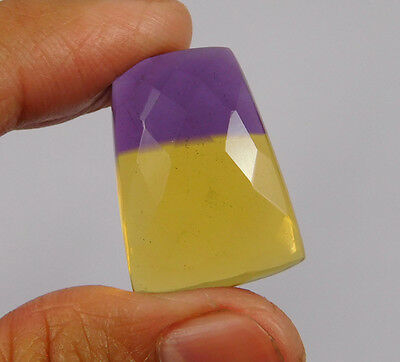 27 Cts. Treated Faceted Ametrine Cut Loose Cabochon Gemstone (NH988)