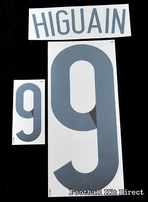 Argentina Higuain 9 2014 world cup Football Shirt Name Set Home Sporting ID