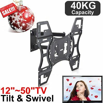 "LCD LED FLAT TV WALL MOUNT TILT BRACKET 32-50"" for LG Samsung Sony UHD 4K HD TV"