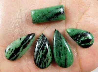 105 Cts. NATURAL STUNNING RUBY ZOISITE LOT LOOSE CAB GEMSTONE (AQ230)