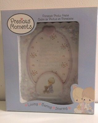 Precious Moments Porcelain Baby Boy Photo Frame- New In Box