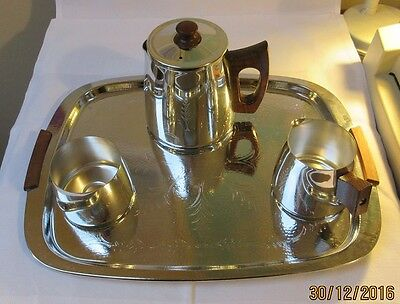Sona tea tray, teapot, jug and sugar bowl