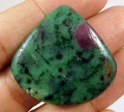 60 Cts. 100% NATURAL GORGEOUS RUBY ZOISITE LOOSE CAB GEMSTONE (AQ207)