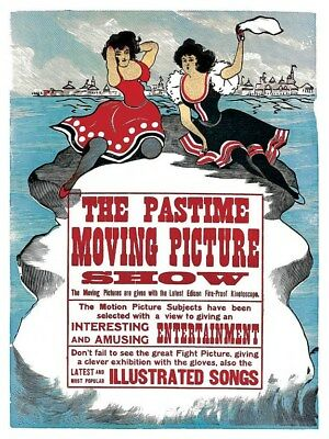 Retro Edison Kinetoscope Pastime Moving Picture Show Movie Poster Free Shipping