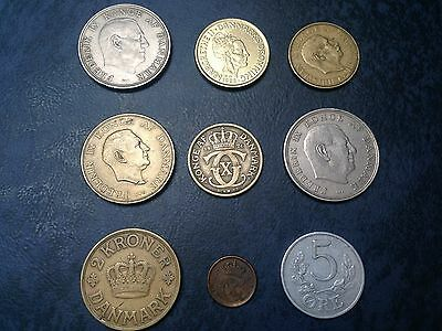 Denmark coins dated from 1923 to 1988 -  see pictures