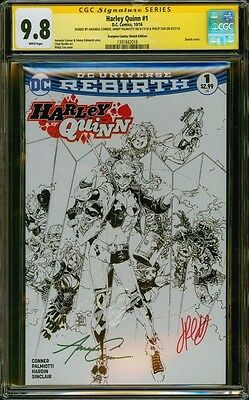 Harley Quinn 1 Philip Tan Sketch Variant Cgc 9.8 3X Conner Palmiotti Tan Batman