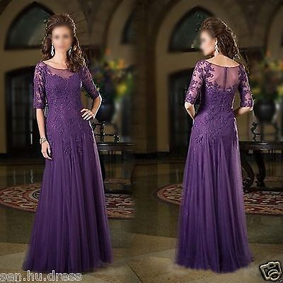 Long Mother of The Bride Dress Wedding Gown Formal Evening Party Prom Dress