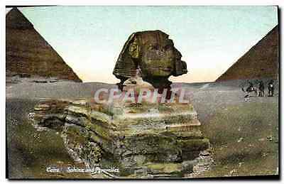 CPA Egypte Egypt Cairo Sphinx and Pyramides
