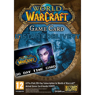 World of Warcraft 30 Day Time Card Prepaid Game Card Instant Delivery [NA & EU]
